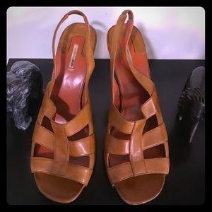 Max Studio tan Leather slingback sandal heels